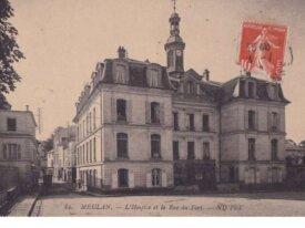 (78) cpa -meulan- l'hospice et la rue du fort