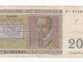 Belgique 20 francs regnier année 03.04.56
