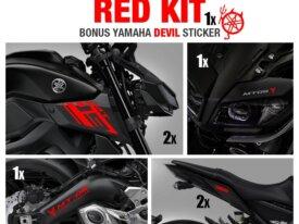 Pack de 9 Stickers MT09 Rouges + 1 gris