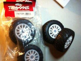 4 roues pour Traxxas Rally 1/8