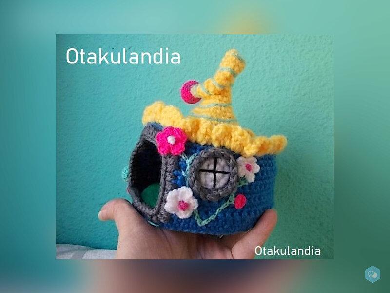 Casita de Gnomos para Agaporni en Crochet 2