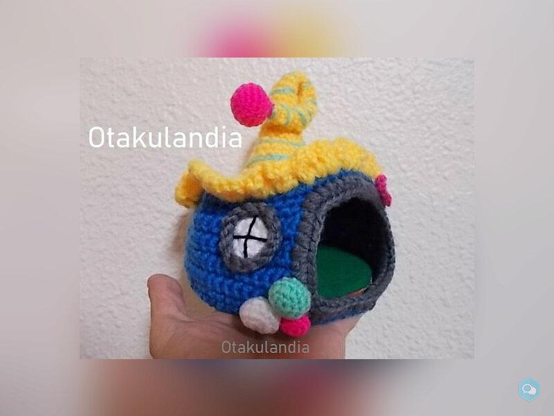 Casita de Gnomos para Agaporni en Crochet 3