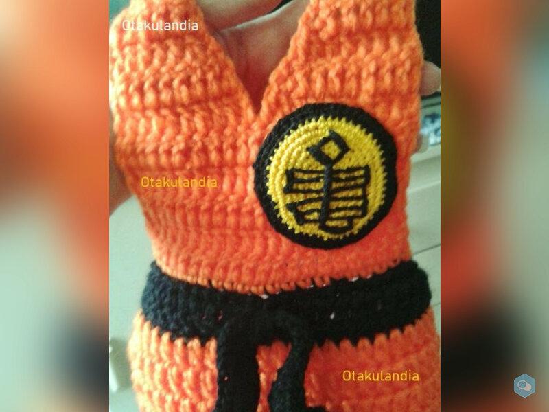 Disfraz Goku Bebé en Crochet  4