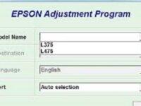 Reset Epson L375 - 475 2