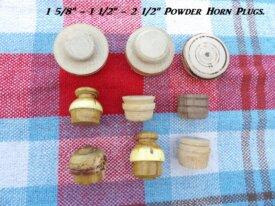 6 Powder Horn Plugs