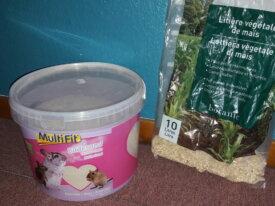 Terre à bain et rafles de maïs