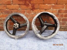 Black satin cast wheels