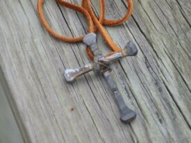 Horse shoe nail cross necklace