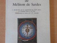 La Clef du Symbolisme de Méliton de Sardes 1