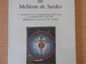 La Clef du Symbolisme de Méliton de Sardes
