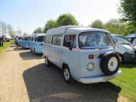 an Air Cooled Brazilian Bay in light blue