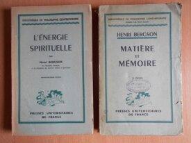 Matière et Mémoire + Energie Spirituelle (Bergson)