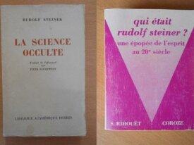 Lot : 2 livres sur Rudolf Steiner