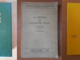 Lot : 3 livres sur Raymond Lulle
