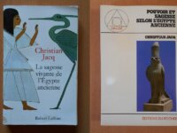 Lot : 2 livres de Christian Jacq 1