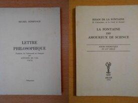 Lettre Philosophique + La Fontaine des Amoureux...