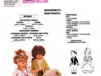 Modeles Vêtements Poupée-Poupon Panoplie complet 2