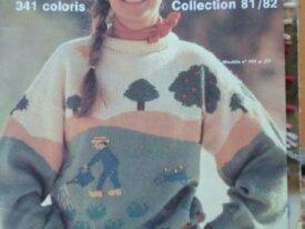 Modèle Gratis Tricot Pull Paysage 3Suisses 1981-82