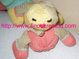 PDF Doudou Chenille multicolore pastel tricot