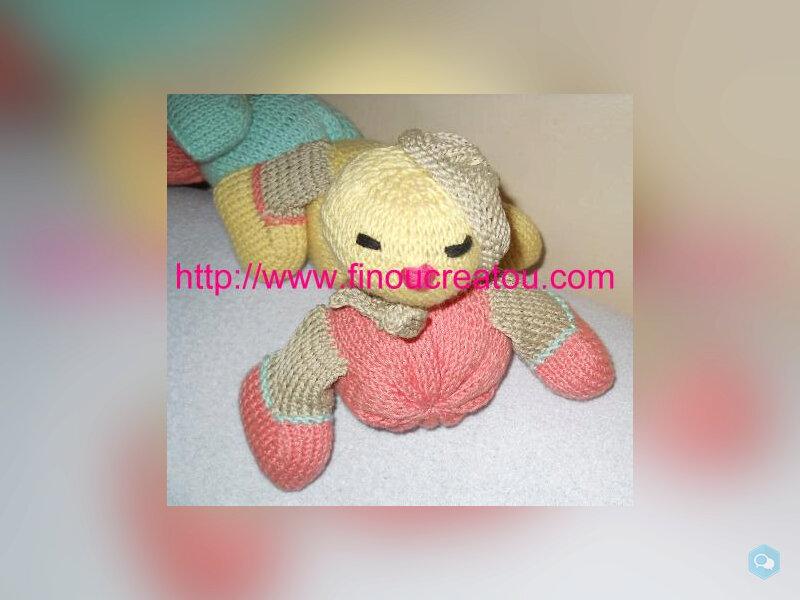 PDF Doudou Chenille multicolore pastel tricot 1
