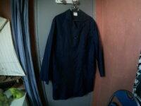 Blouse bleu marine 100% NYLON  1
