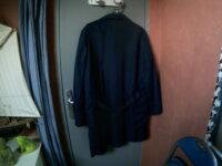 Blouse bleu marine 100% NYLON  2