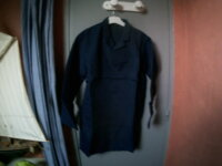 Blouse enfant bleu marine 100% nylon  1
