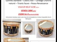 Vente tambours neufs 1