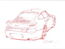 993 Turbo jaune vitesse