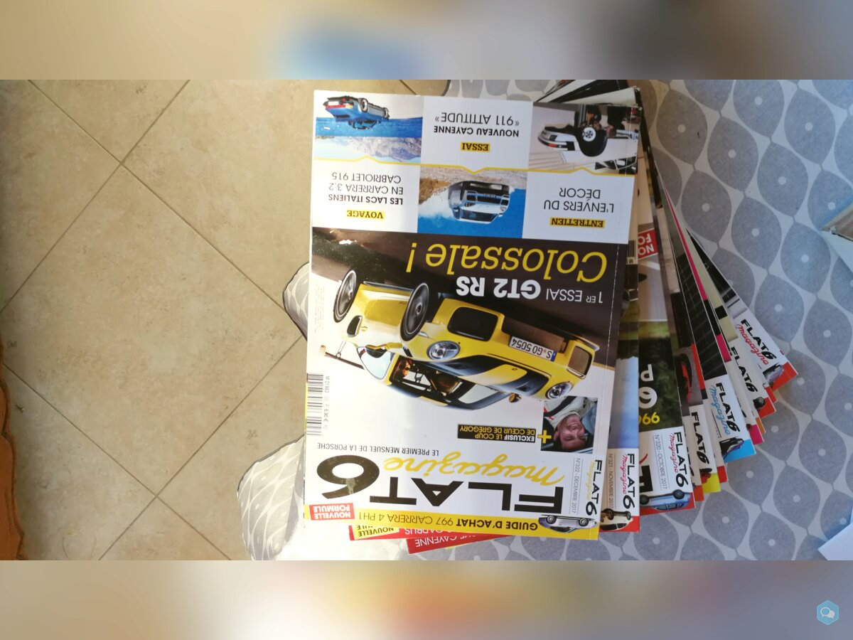 Lot de magazines RS+FLAT 6 2