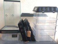 Lot Breeding box + Terrarium 20x20x40 1