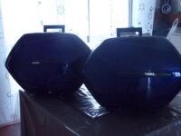 Paire de valises bleu roi bon état 1
