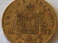 Pièce de 20 francs or Napoléon III de 1863 1