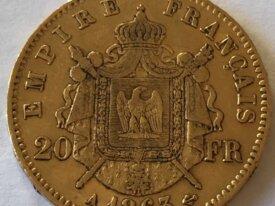 Pièce de 20 francs or Napoléon III de 1863