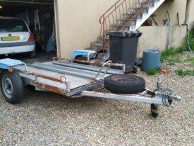 remorque plateau moto 1 rail