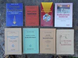 Lot : 8 livres sur la Radiesthésie