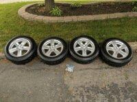"""4 pneus Michelin 16"""" + Jantes 16x6.5 - 5x114. 1"""