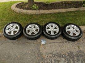 """4 pneus Michelin 16"""" + Jantes 16x6.5 - 5x114."""