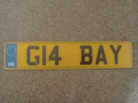 G14BAY cherished number plate