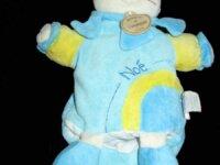 doudou marionnette chat bleu noé 1