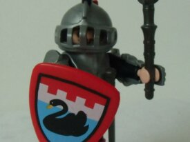 Playmobils - Chevaliers - Chevalier du cygne noir