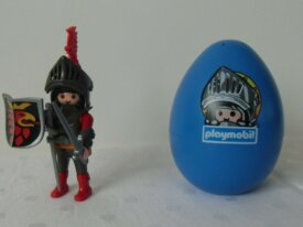Playmobils - Chevaliers - Oeuf bleu chevalier