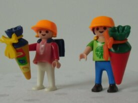 Playmobil-Moderne-2 écoliers & pochettes surpr