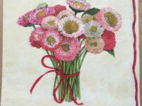 """Serviette en papier """"Bouquet de reines-margue 1"""