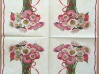 """Serviette en papier """"Bouquet de reines-margue 2"""