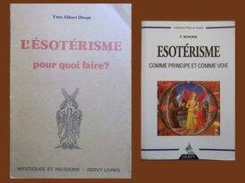 Lot : 2 livres sur l'Esotérisme