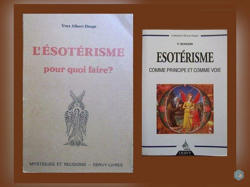 Lot : 2 livres sur l'Esotérisme 1