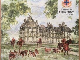 """Serviette en papier """"Château de Cheverny&quot"""