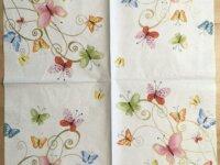 """Serviette en papier """"Papillons multicolores&q 1"""