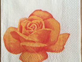 "Serviette en papier ""Rose orange"""